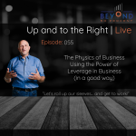 cover art for Using the Power of Leverage in Business (in a good way) | Up and to the Right | Episode 055