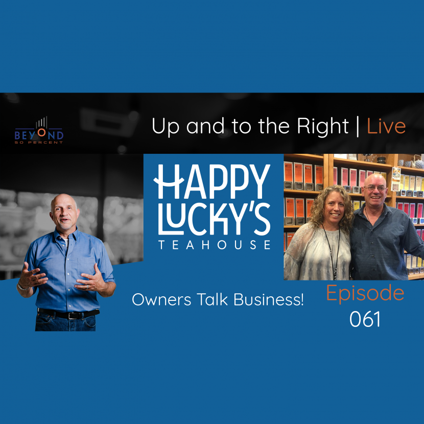 Happy Lucky's Teahouse Owner Interview   Kari and George Grossman   Up and to the Right   Episode 061
